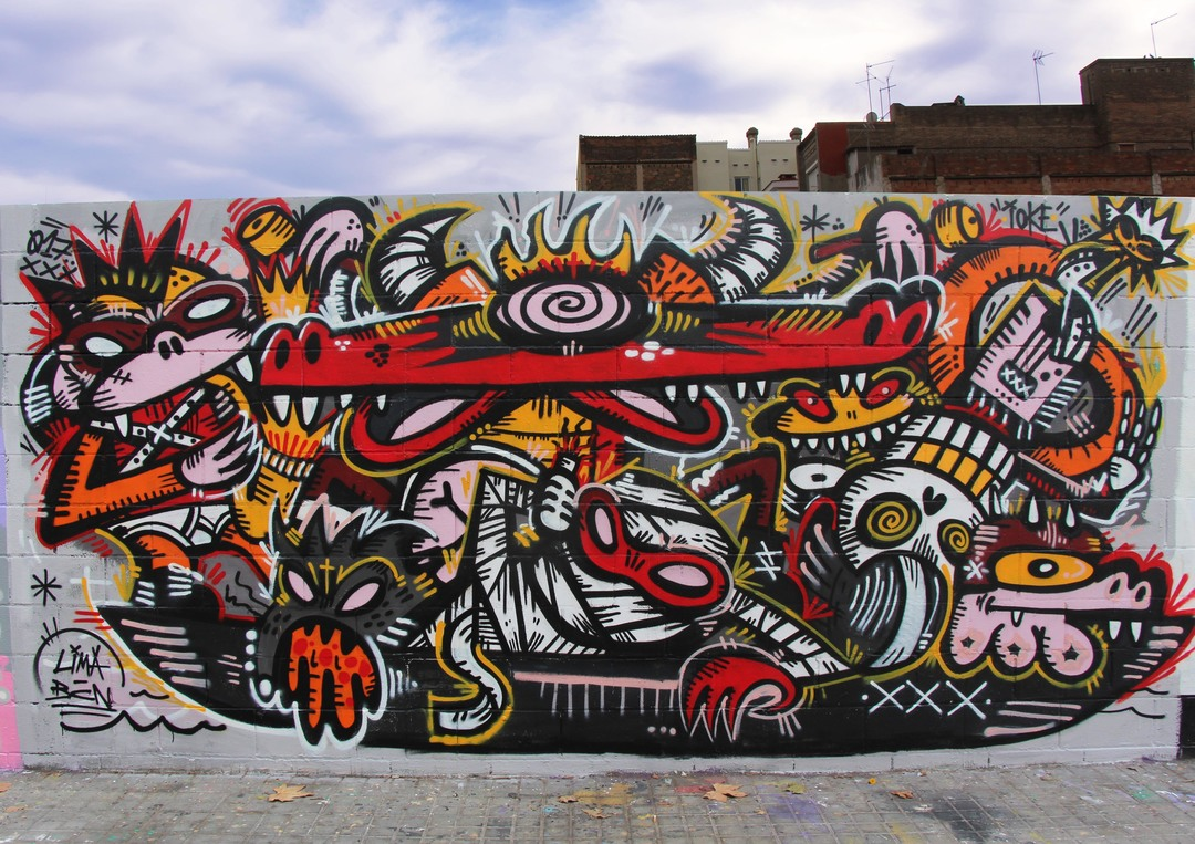 Wallspot - ioke - Ioke 2017 - Barcelona - Poble Nou - Graffity - Legal Walls -