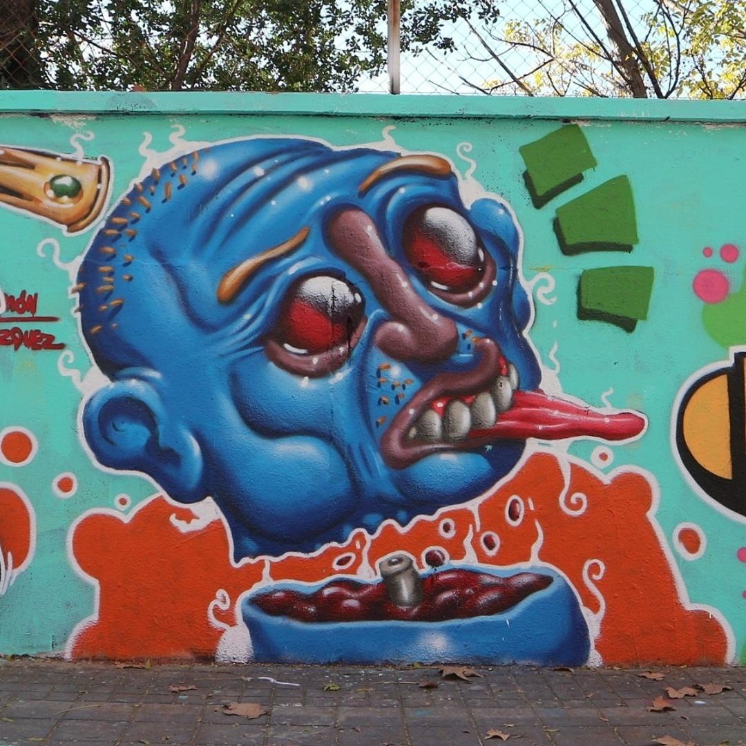 Wallspot - senyorerre3 - Art Simón Vázquez  - Barcelona - Agricultura - Graffity - Legal Walls - Illustration