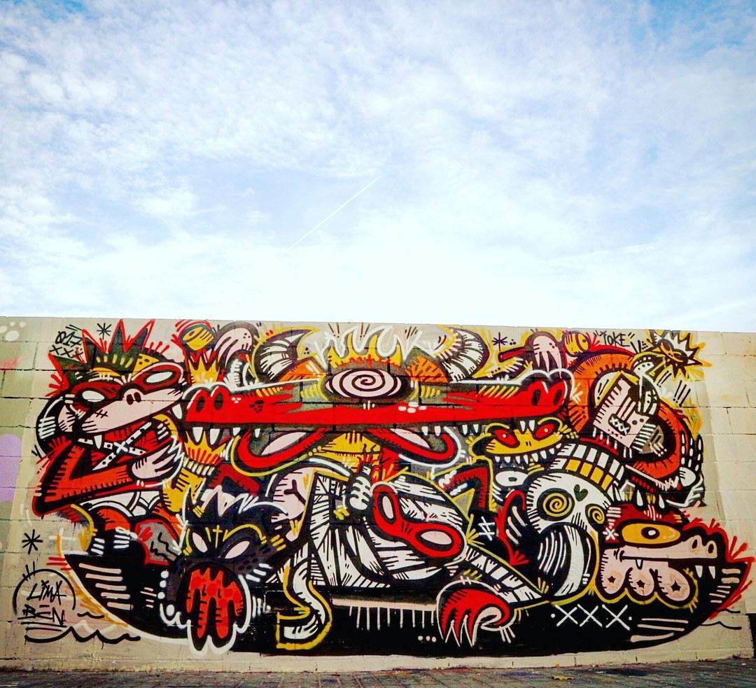Wallspot - senyorerre3 - Art IOKE - Barcelona - Poble Nou - Graffity - Legal Walls - Illustration - Artist - ioke