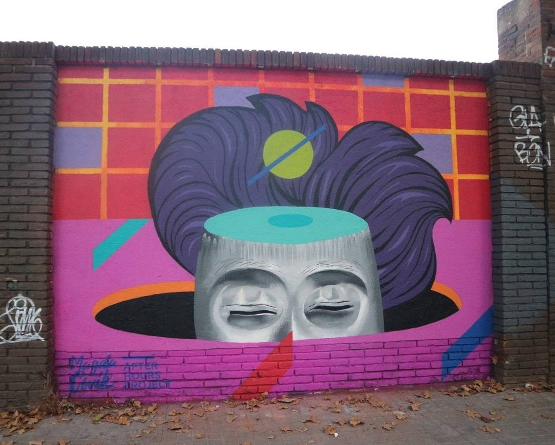 Wallspot - senyorerre3 - Art Magda Cwik - Barcelona - Selva de Mar - Graffity - Legal Walls - Illustration - Artist - Magda Ćwik