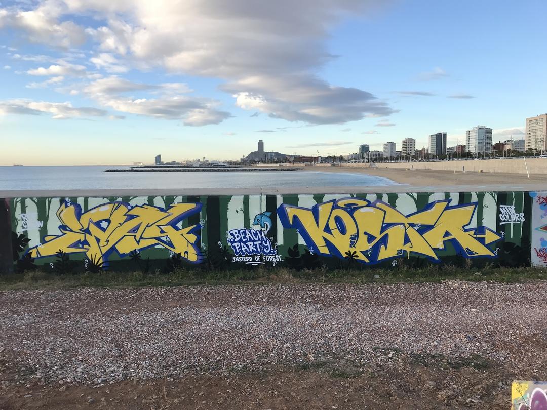 Wallspot - koolkosta -  - Barcelona - Forum beach - Graffity - Legal Walls -