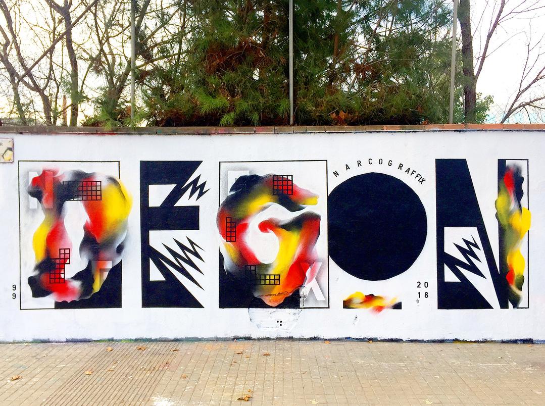 Wallspot - degon -  - Barcelona - Western Town - Graffity - Legal Walls -