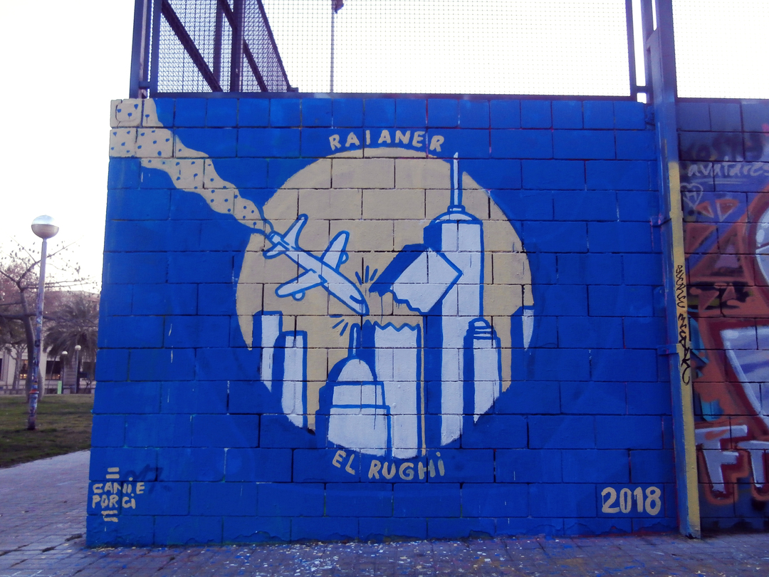 Wallspot - El Rughi - Raianer - Barcelona - Drassanes - Graffity - Legal Walls - Illustration