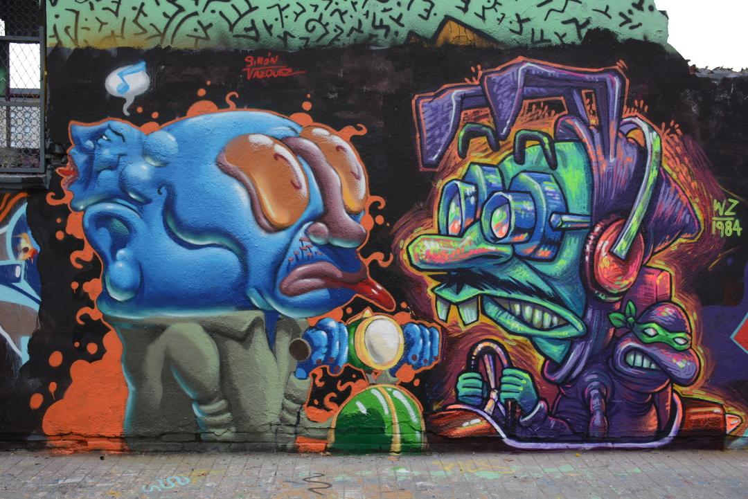 Wallspot - Lluís Olivé - SIMÓN VÁZQUEZ & WZ 1984 - Barcelona - Agricultura - Graffity - Legal Walls - Illustration