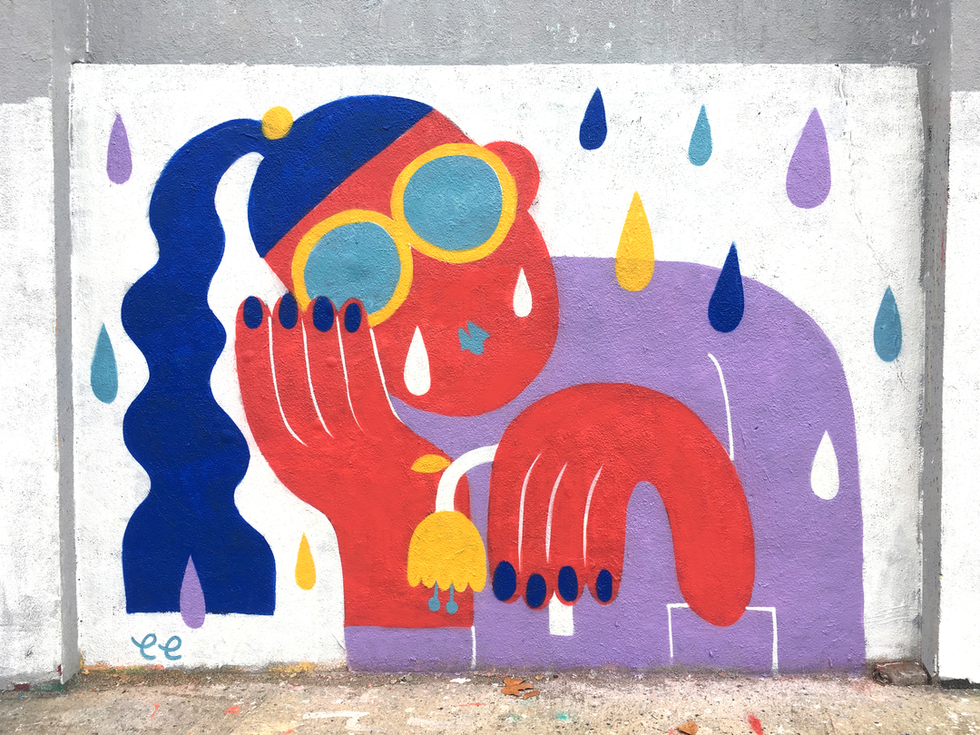 Wallspot - EmilyE - Agricultura - EmilyE - Barcelona - Agricultura - Graffity - Legal Walls - Il·lustració