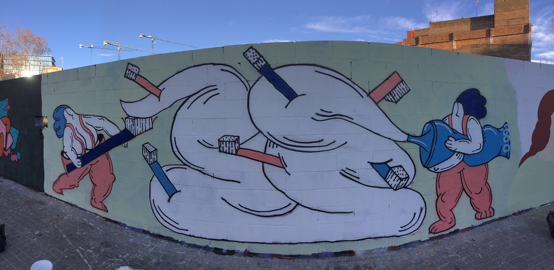 Wallspot - ff -  - Barcelona - Poble Nou - Graffity - Legal Walls -