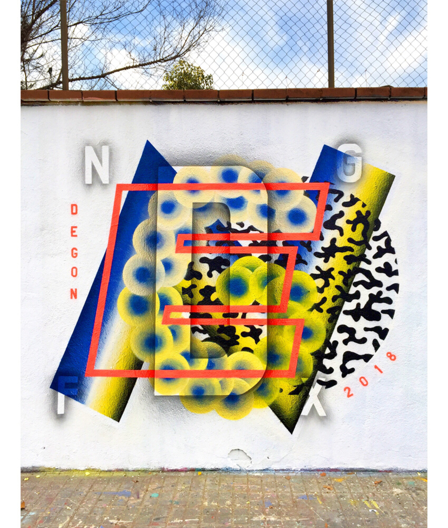 Wallspot - degon - Degon 2018 - Barcelona - Agricultura - Graffity - Legal Walls - Letters