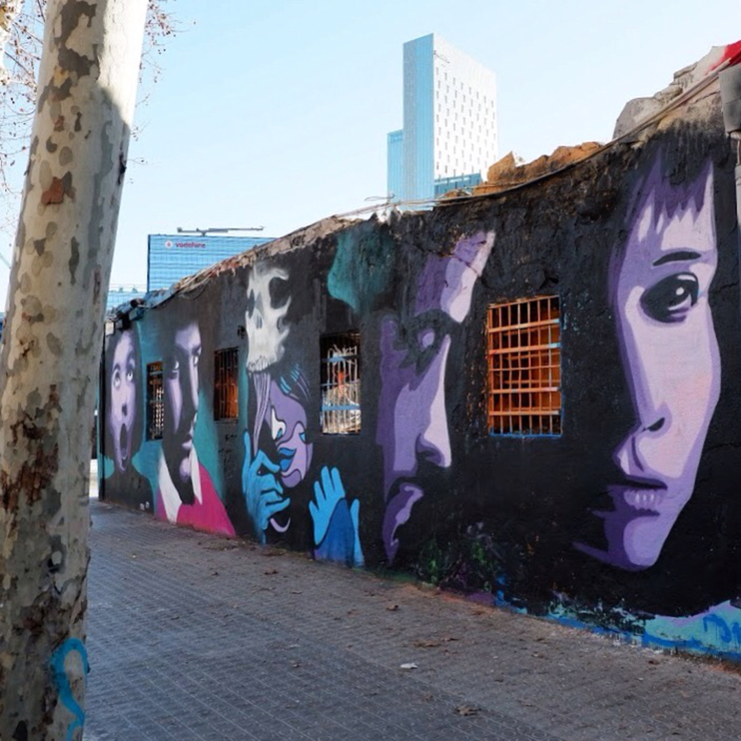 Wallspot - Rockaxson - HETEROGENEITY - Barcelona - Western Town - Graffity - Legal Walls - Illustration - Artist - SM 172