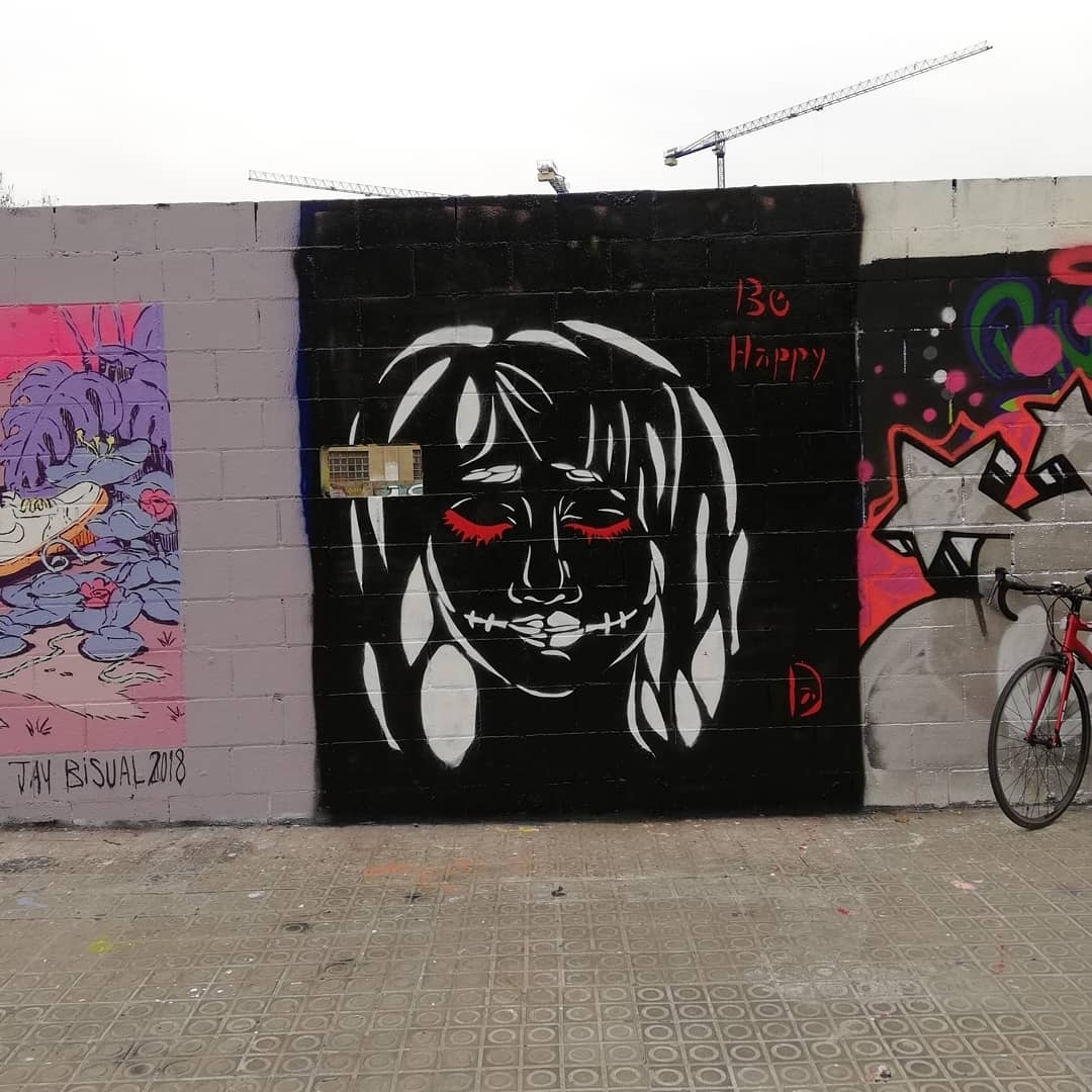 Wallspot - DALA @daliladuartedrd - Poble Nou - Barcelona - Poble Nou - Graffity - Legal Walls - Stencil