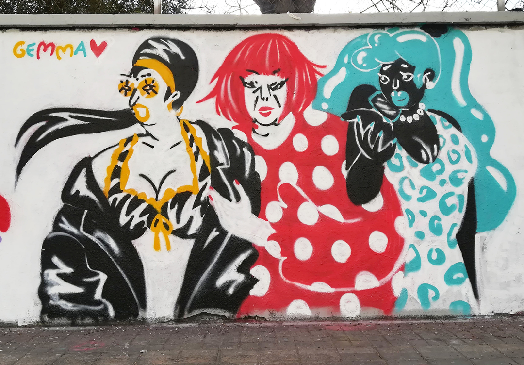 Wallspot - gemfontanals - Vane/ Yayoi/ Rebe - Barcelona - Agricultura - Graffity - Legal Walls - Ilustración