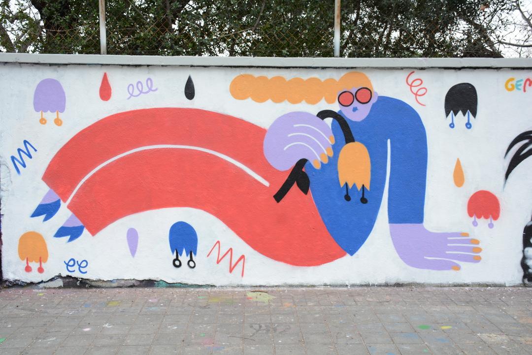 Wallspot - Lluís Olivé - EMILY ELDRIDGE - Barcelona - Agricultura - Graffity - Legal Walls - Illustration - Artist - EmilyE