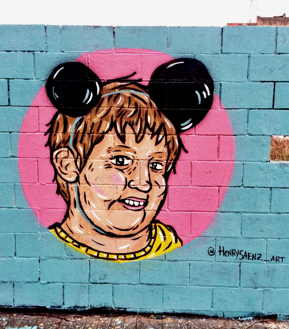 Wallspot - henrysaenz - Juanchito - by henrysaenz - Barcelona - Poble Nou - Graffity - Legal Walls -