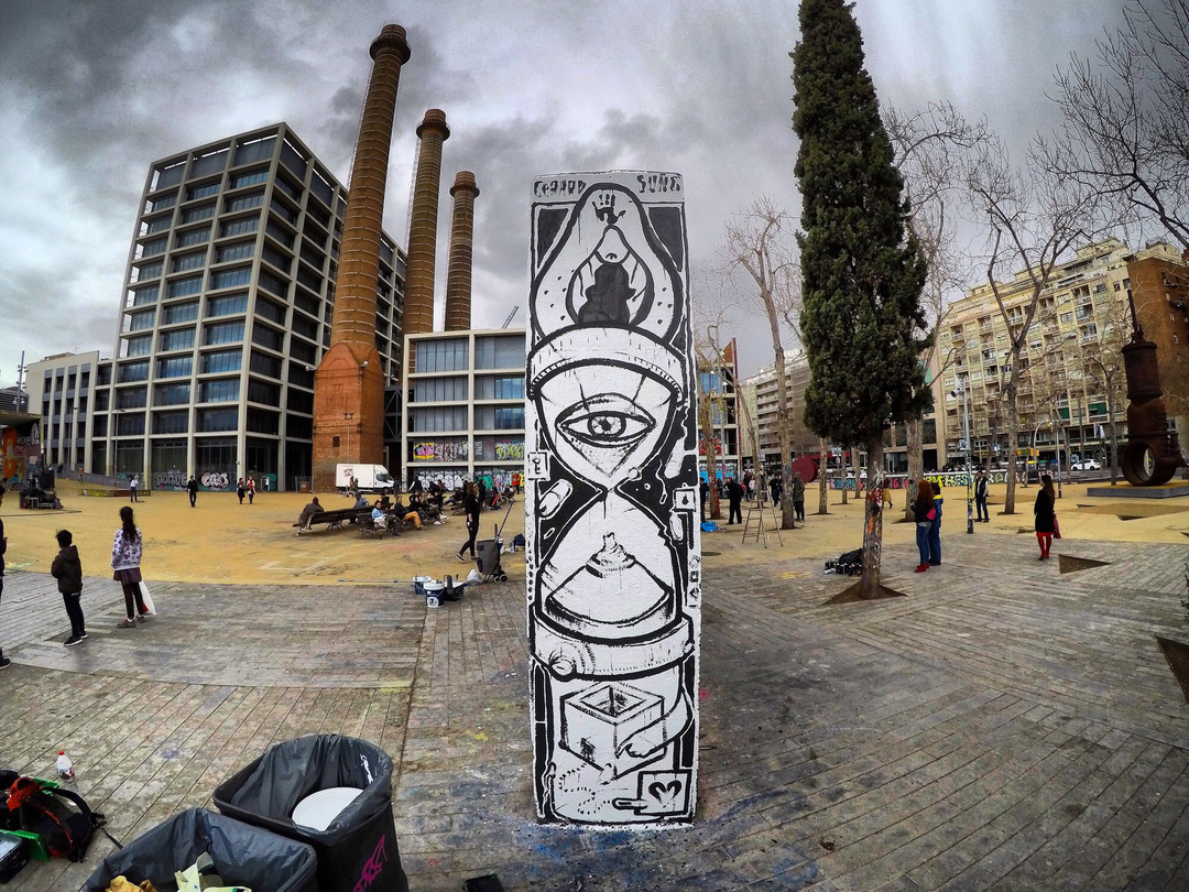 Wallspot - Gerard Suñé Chamorro - Fertilization Time. - Barcelona - Tres Xemeneies - Graffity - Legal Walls - Illustration