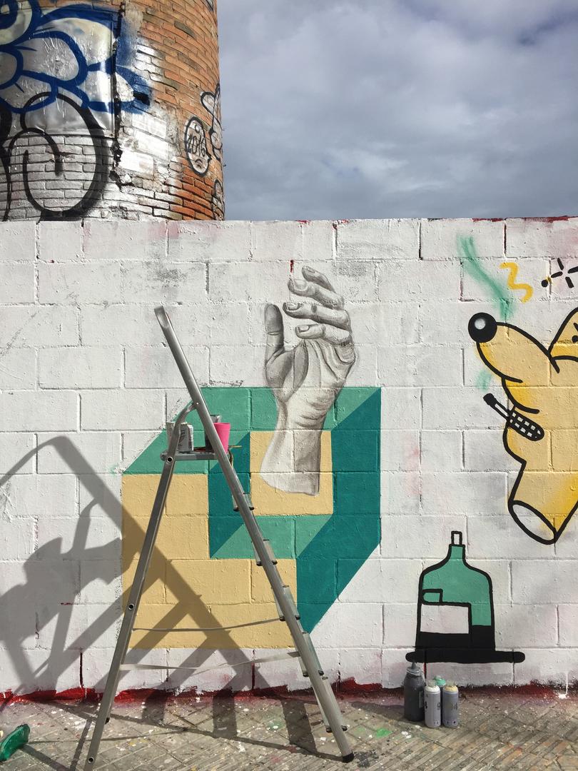 Wallspot - Daniela Carvalho - Poble Nou - Daniela Carvalho - Barcelona - Poble Nou - Graffity - Legal Walls - Ilustración