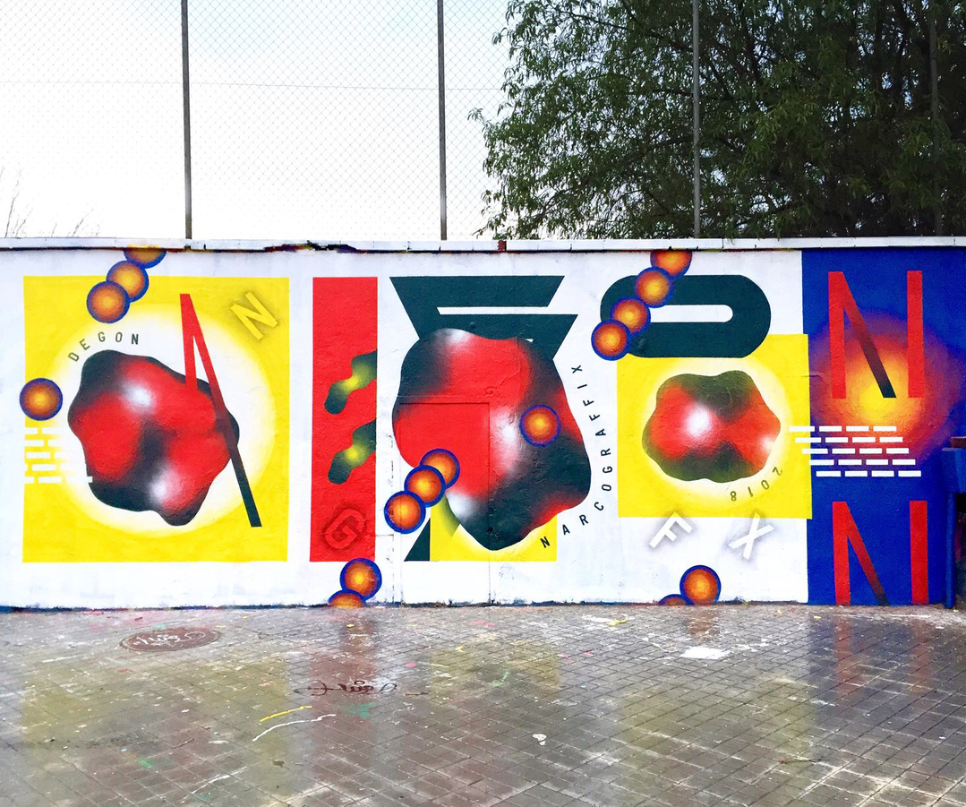 Wallspot - degon - Agricultura - Barcelona - Agricultura - Graffity - Legal Walls - Letters