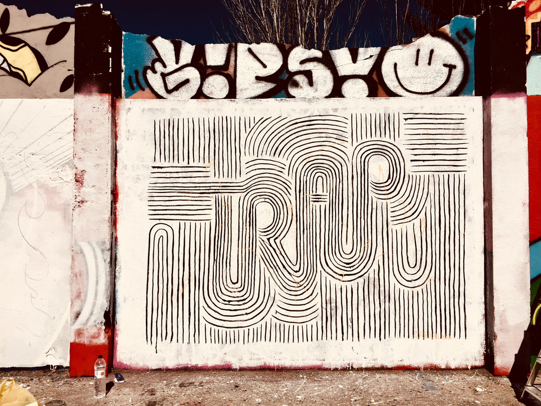 Wallspot - Daniela Carvalho - Agricultura - Daniela Carvalho - Barcelona - Agricultura - Graffity - Legal Walls - Letras, Ilustración