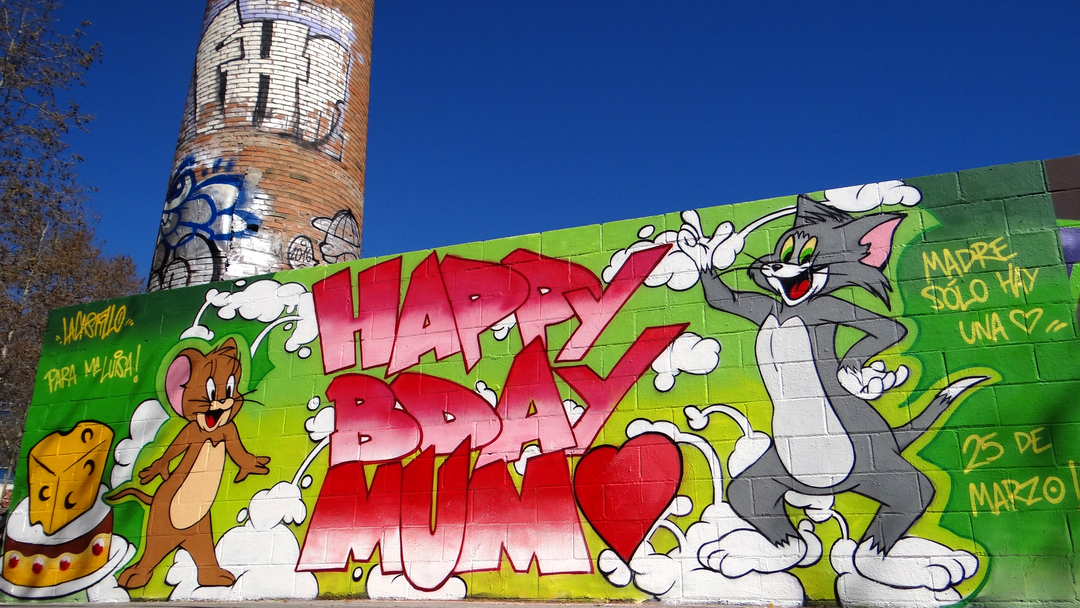 Wallspot - LaCastillo - TOM&JERRY - Barcelona - Poble Nou - Graffity - Legal Walls - Letters, Illustration, Others