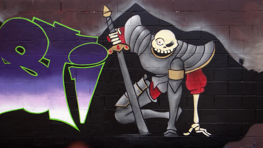 Wallspot - LaCastillo - SIR DANIEL FORTESQUE - Barcelona - Poble Nou - Graffity - Legal Walls - Letters, Illustration, Others
