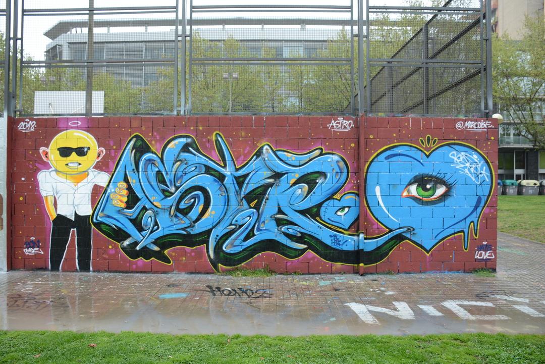 Wallspot - Lluís Olivé - ASTRO & MARC DISE - Barcelona - Drassanes - Graffity - Legal Walls - Letters, Illustration