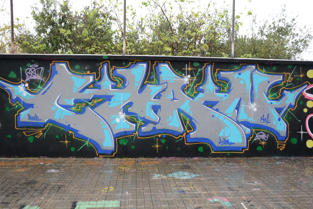 Wallspot - Lluís Olivé - SANTI CHAN - Barcelona - Agricultura - Graffity - Legal Walls -