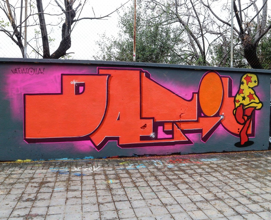 Wallspot - senyorerre3 - Art DATIL THE DOGG - Barcelona - Agricultura - Graffity - Legal Walls - Letters, Illustration