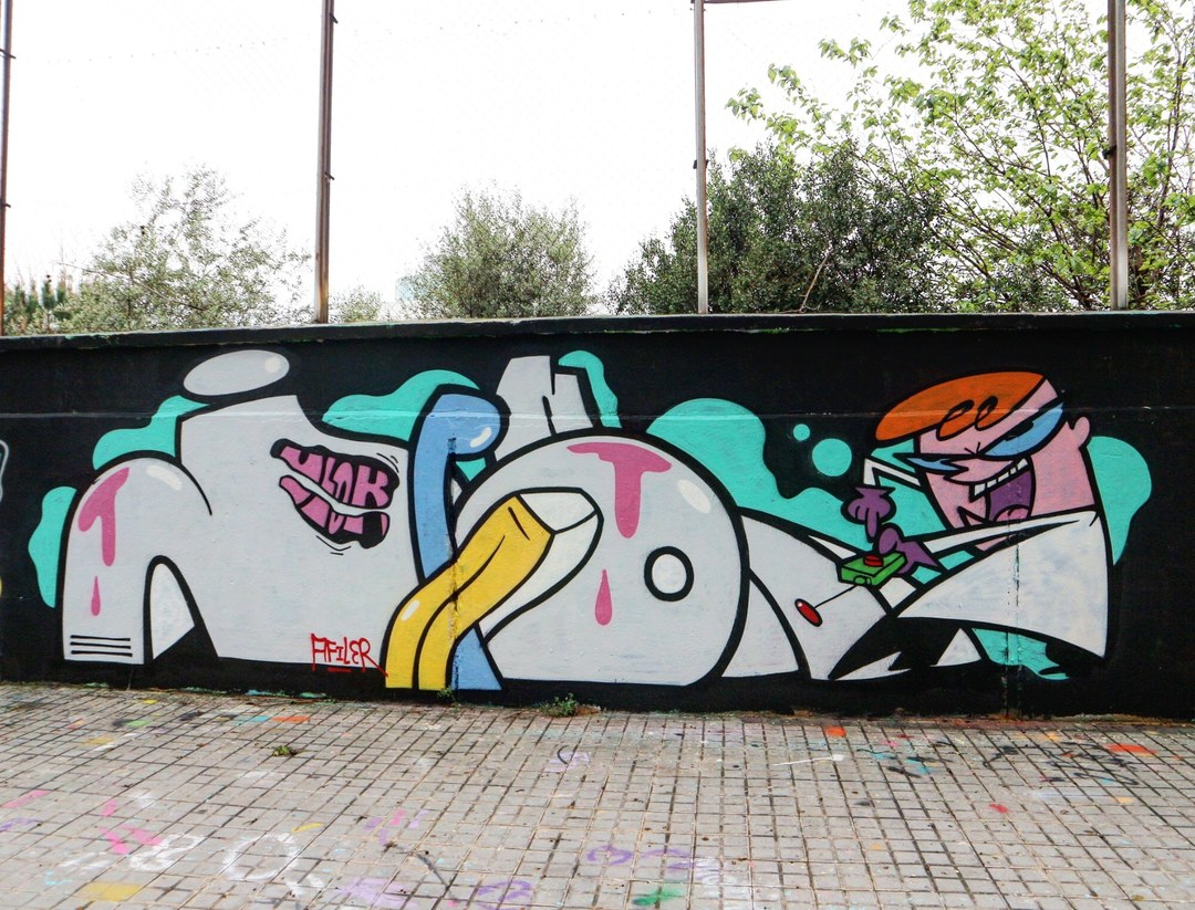 Wallspot - senyorerre3 - Art JAPON VLOK - Barcelona - Agricultura - Graffity - Legal Walls - ,
