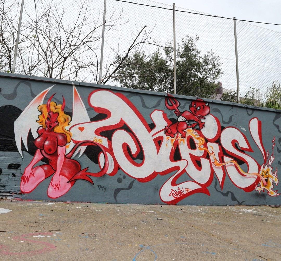 Wallspot - senyorerre3 - Art KEIS - Barcelona - Agricultura - Graffity - Legal Walls - Letters, Illustration