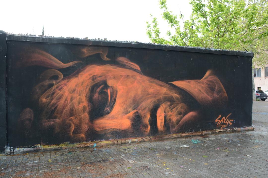 Wallspot - Lluís Olivé - SAV 45 - Barcelona - Agricultura - Graffity - Legal Walls - Illustration - Artist - savf