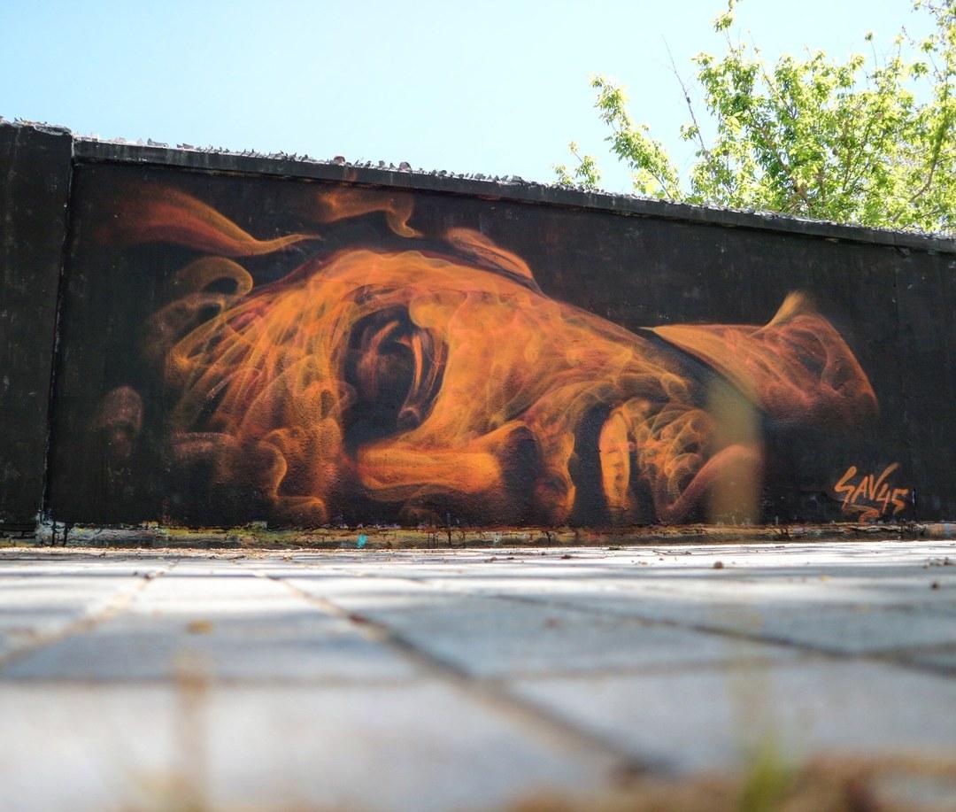 Wallspot - senyorerre3 - Art SAV45 - Barcelona - Agricultura - Graffity - Legal Walls - Illustration - Artist - savf