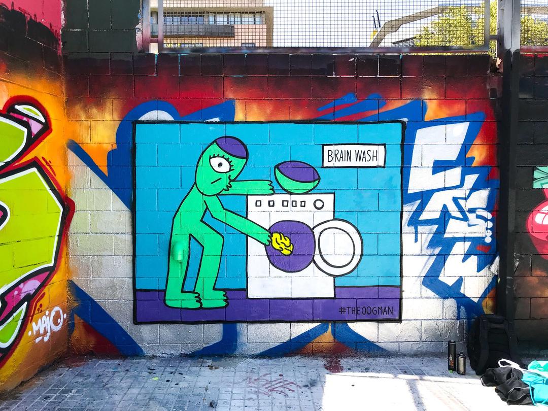 Wallspot - theoogman  -  - Barcelona - Drassanes - Graffity - Legal Walls -