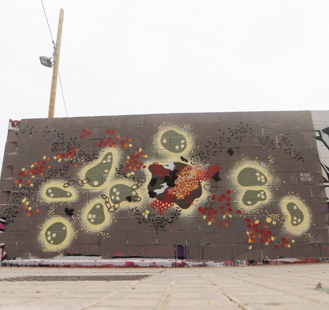 Wallspot - senyorerre3 - Art VALIENTE CREATIONS - Barcelona - Poble Nou - Graffity - Legal Walls - Illustration