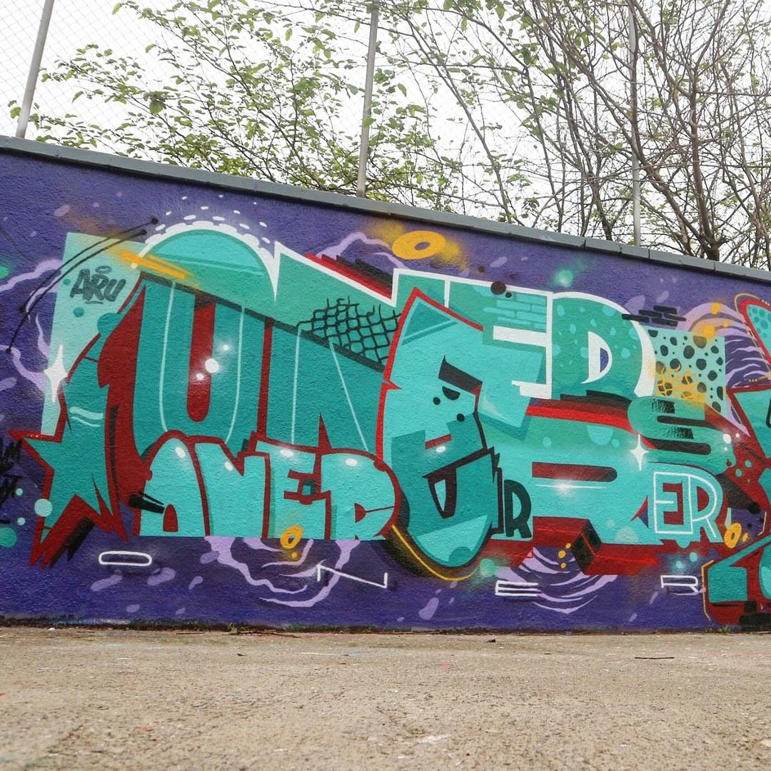 Wallspot - senyorerre3 - Art MR.ONER - Barcelona - Agricultura - Graffity - Legal Walls - Letters, Illustration - Artist - Oner