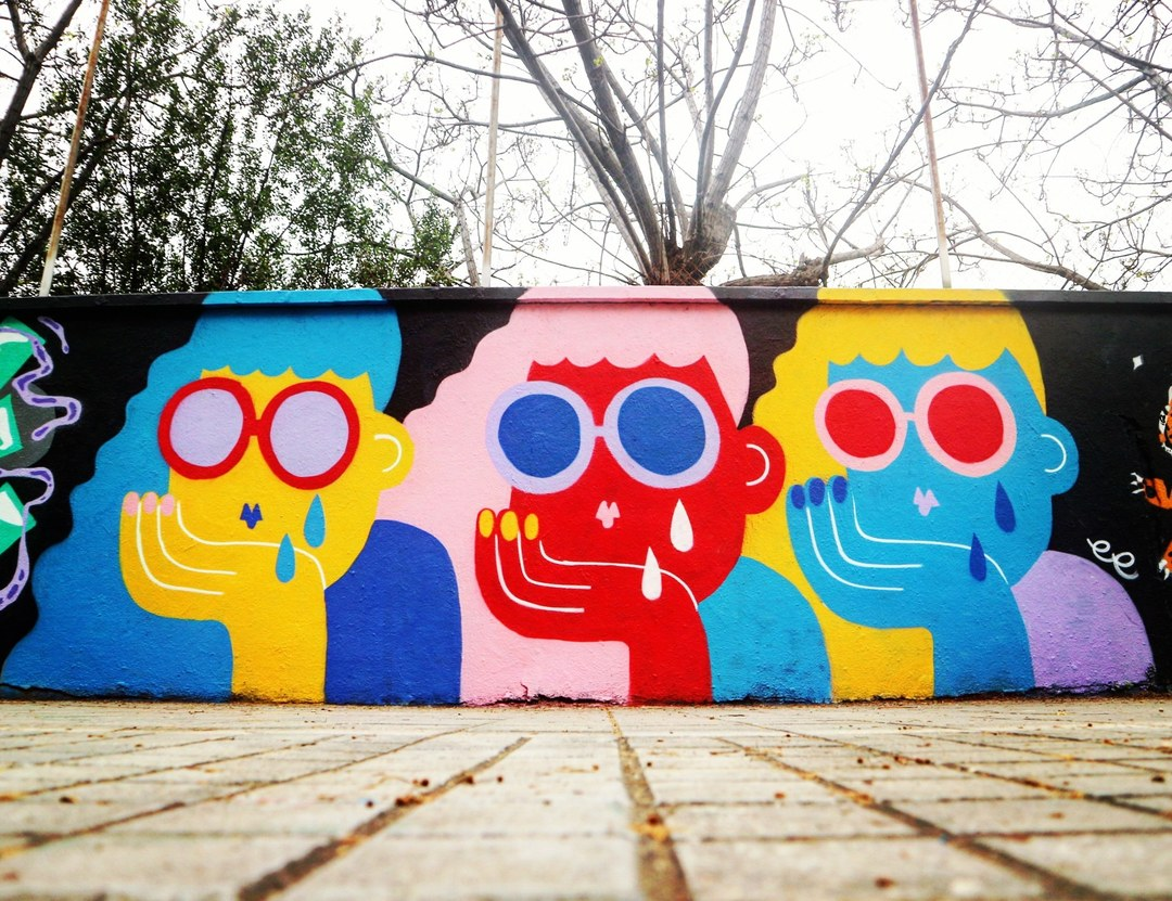 Wallspot - senyorerre3 - Art EMILY ELDRIDGE - Barcelona - Agricultura - Graffity - Legal Walls - Illustration
