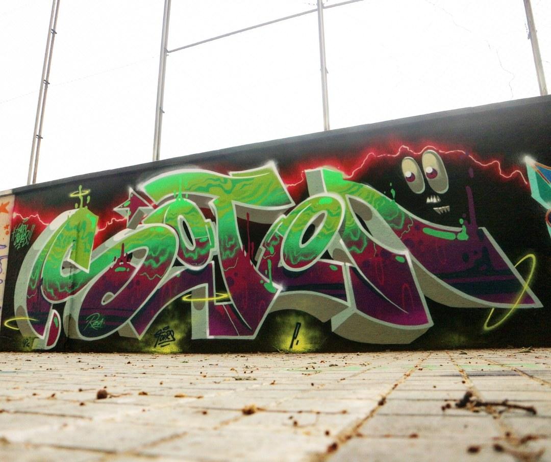 Wallspot - senyorerre3 - Art HARRY BONES - Barcelona - Agricultura - Graffity - Legal Walls - Lletres, Il·lustració