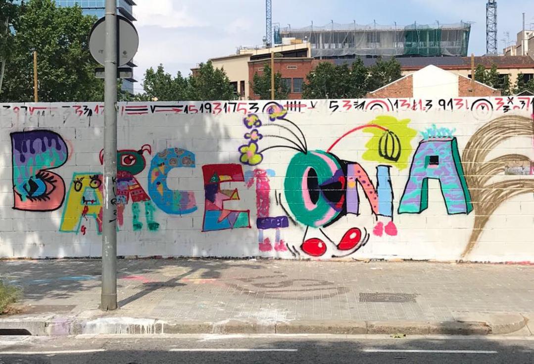 Wallspot - henrysaenz - family art class  - Barcelona - Poble Nou - Graffity - Legal Walls - Il·lustració, Altres