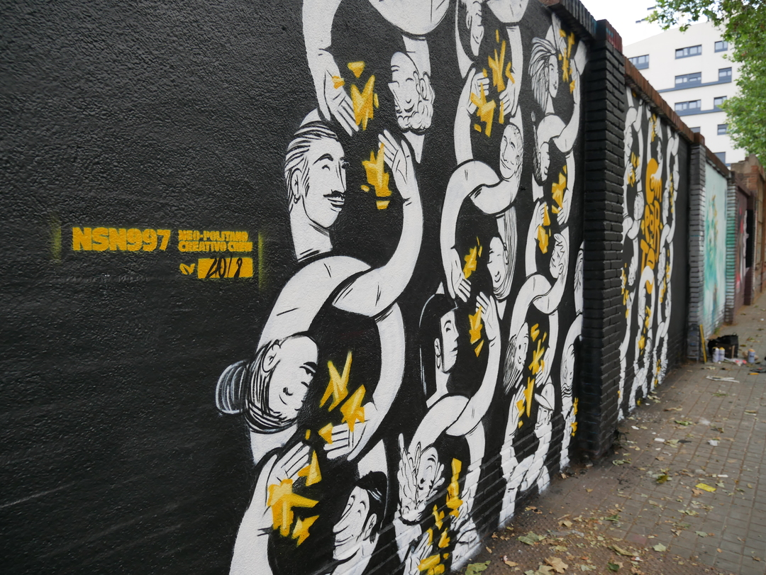Wallspot - nsn997 - COMPARTE - Barcelona - Selva de Mar - Graffity - Legal Walls - Illustration, Stencil, Others