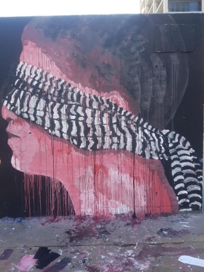 Wallspot - ives.one - love makes blind - Barcelona - Tres Xemeneies - Graffity - Legal Walls - Illustration