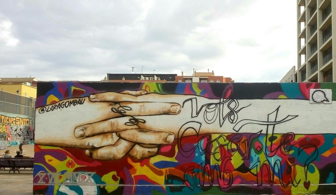 Wallspot - araL - vols casar-te amb mi?  - Barcelona - Tres Xemeneies - Graffity - Legal Walls - Lletres, Il·lustració