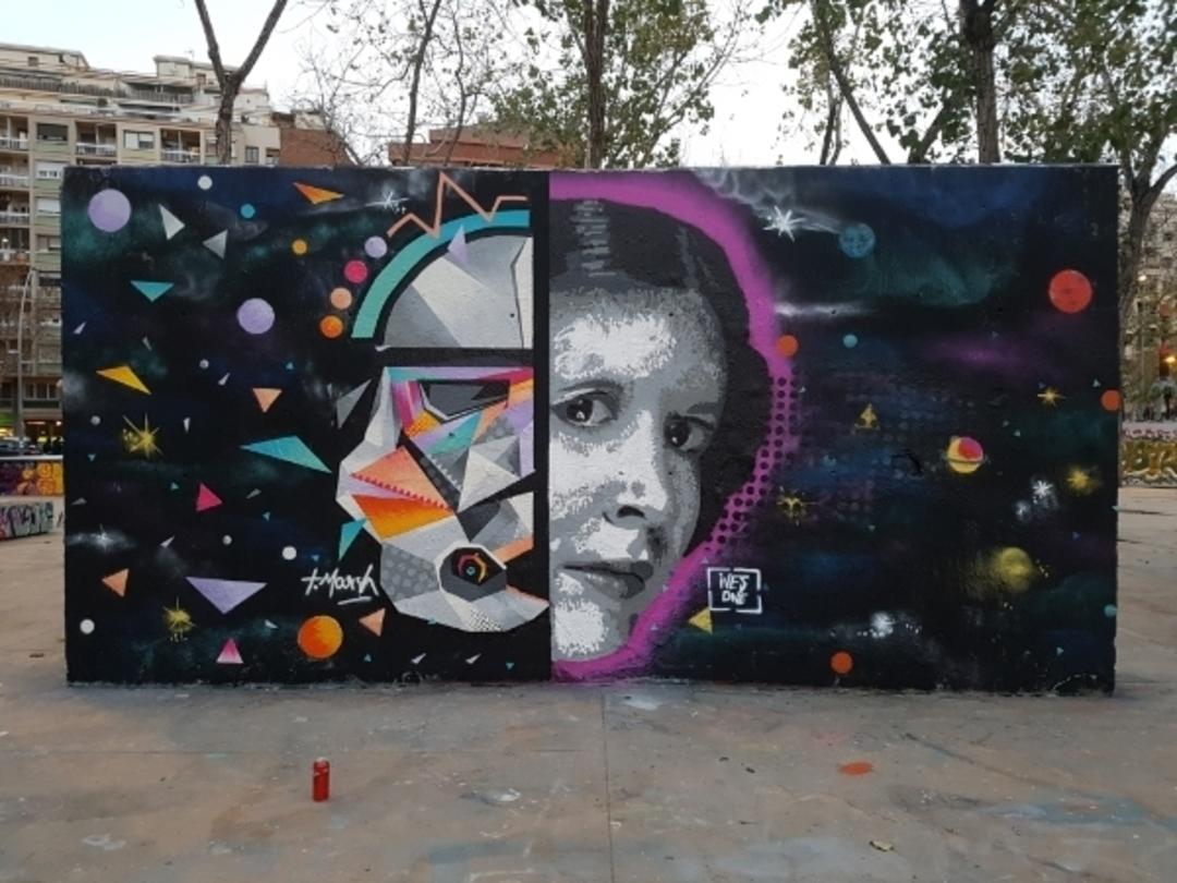 Wallspot - ives.one - starwars. the jedi returs. with Tim Marsh - Barcelona - Tres Xemeneies - Graffity - Legal Walls - Illustration