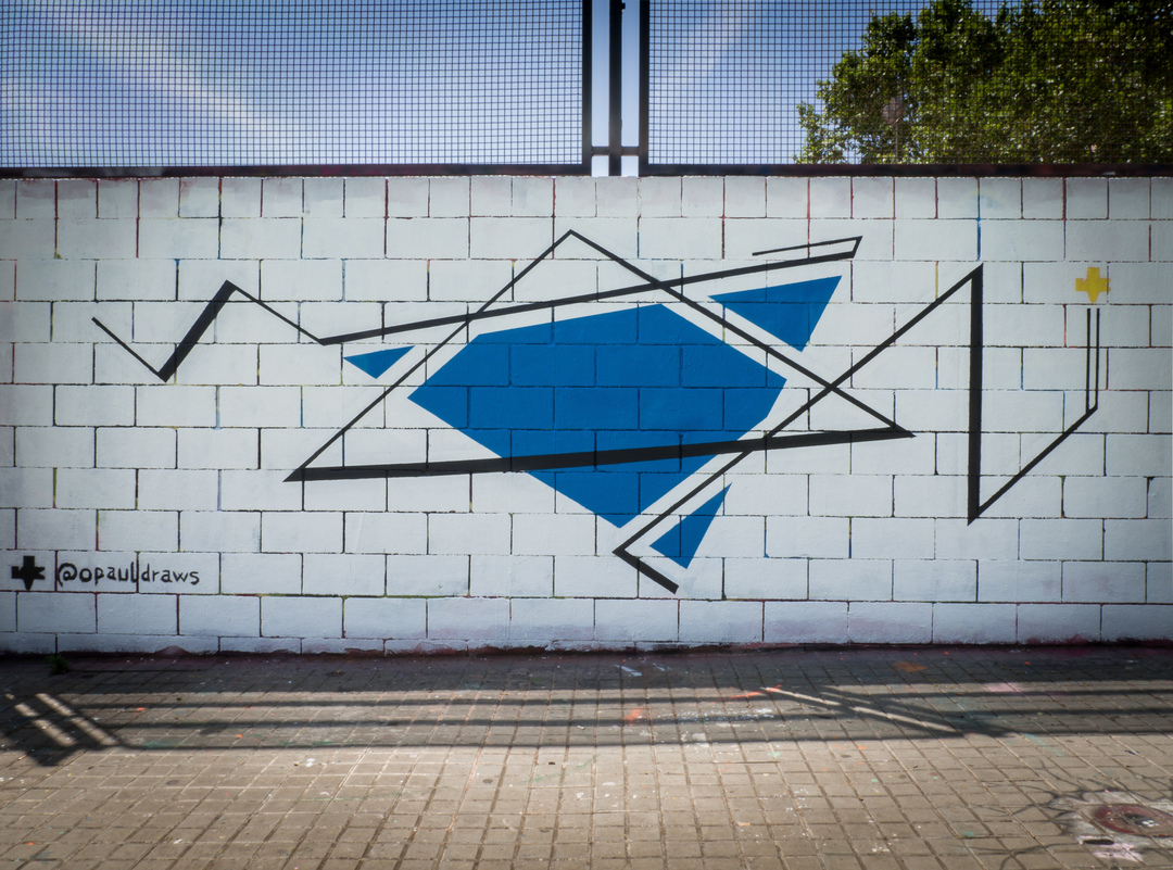 Wallspot - Ramo - Triangles - RAMO - Drassanes - Barcelona - Drassanes - Graffity - Legal Walls - ,
