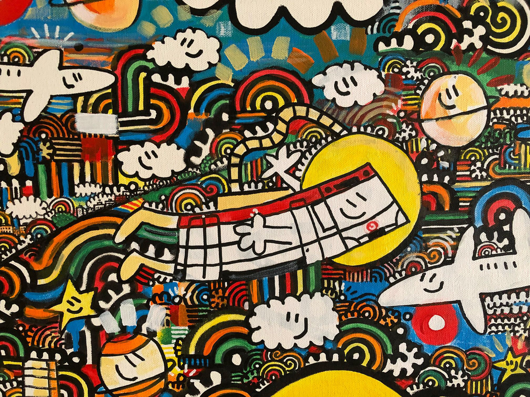 Wallspot - kamil escruela - superworld whit nami la mano - Barcelona - Tres Xemeneies - Graffity - Legal Walls - Il·lustració, Altres