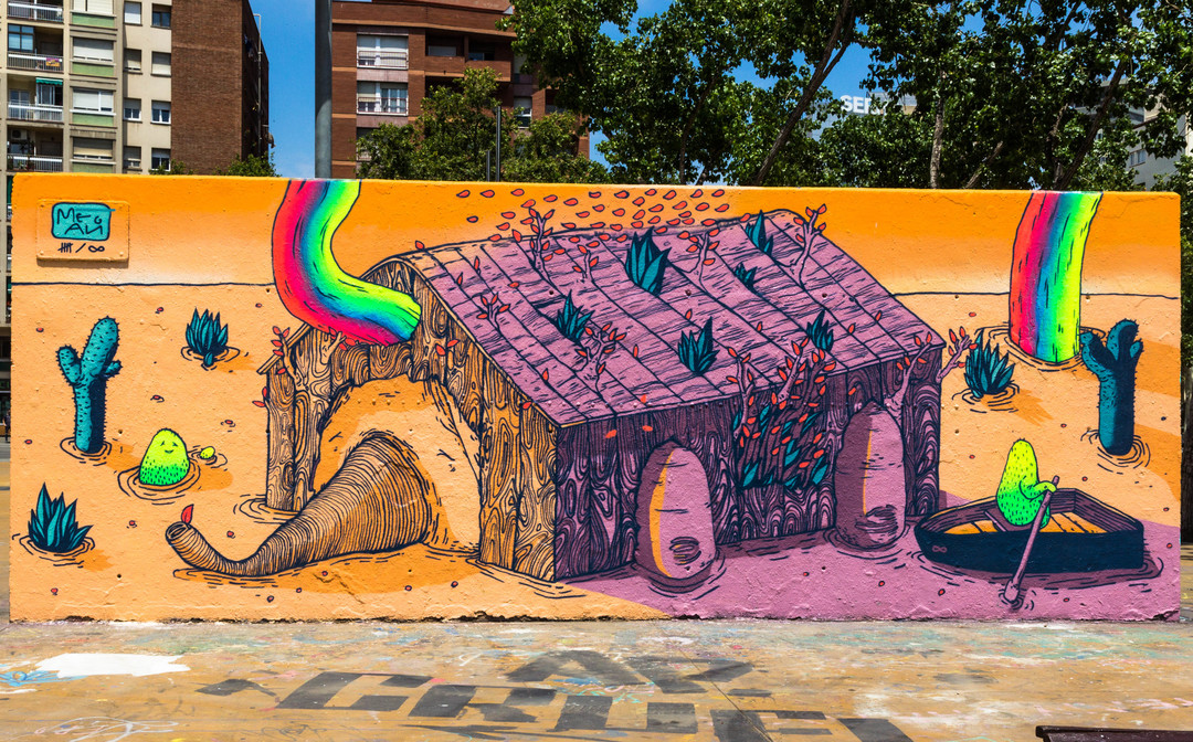 Wallspot - JOAN PIÑOL - JOAN PIÑOL - Projecte 22/06/2018 - Barcelona - Drassanes - Graffity - Legal Walls - Illustration