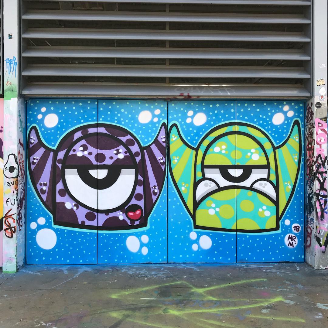 Wallspot - Mr.M -  - Barcelona - Tres Xemeneies - Graffity - Legal Walls -