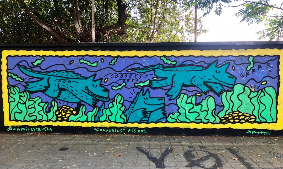 Wallspot - kamil escruela - cocodrils - Barcelona - Agricultura - Graffity - Legal Walls - Illustration