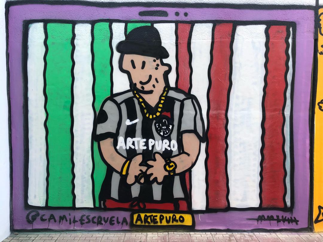 Wallspot - kamil escruela - arte puro 24 kilates - Barcelona - Forum beach - Graffity - Legal Walls - Il·lustració, Altres