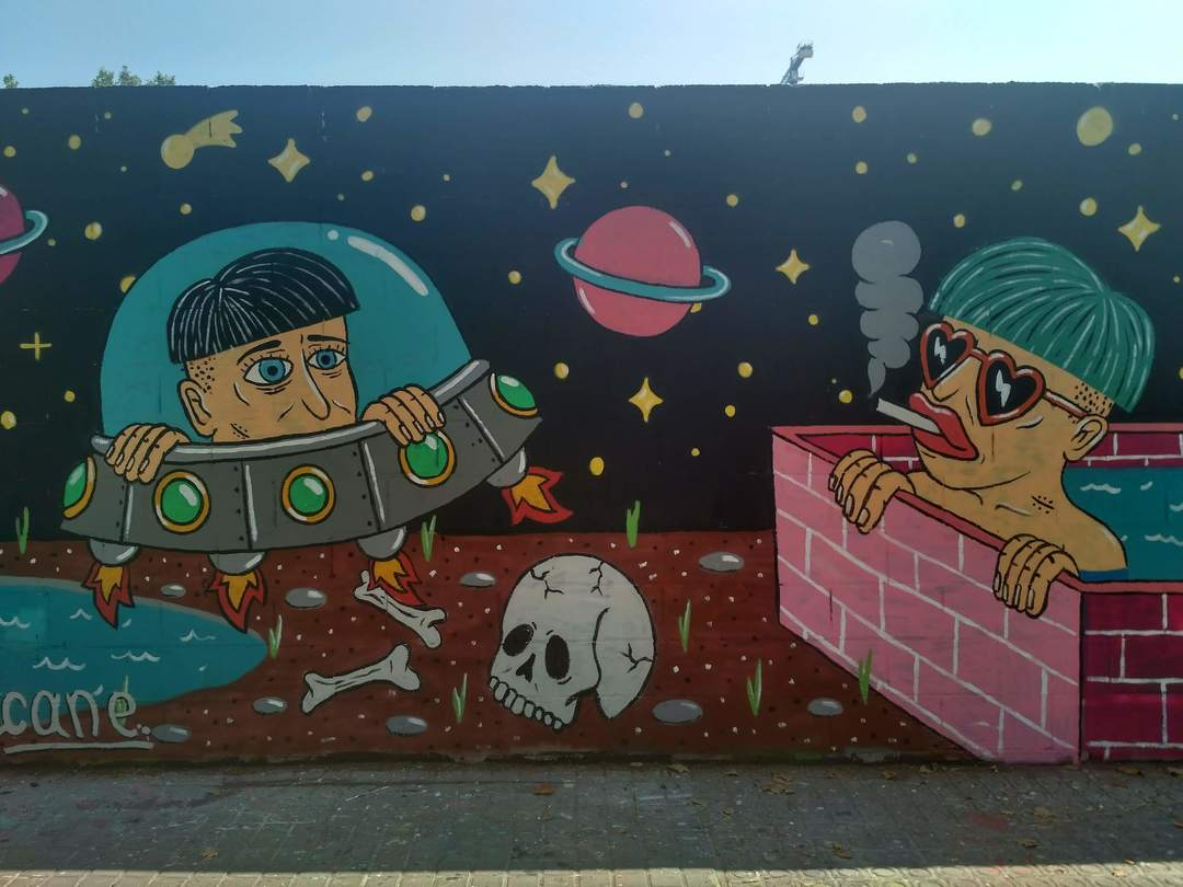 Wallspot - evalop - evalop - Proyecto 03/07/2018 - Barcelona - Poble Nou - Graffity - Legal Walls - Illustration