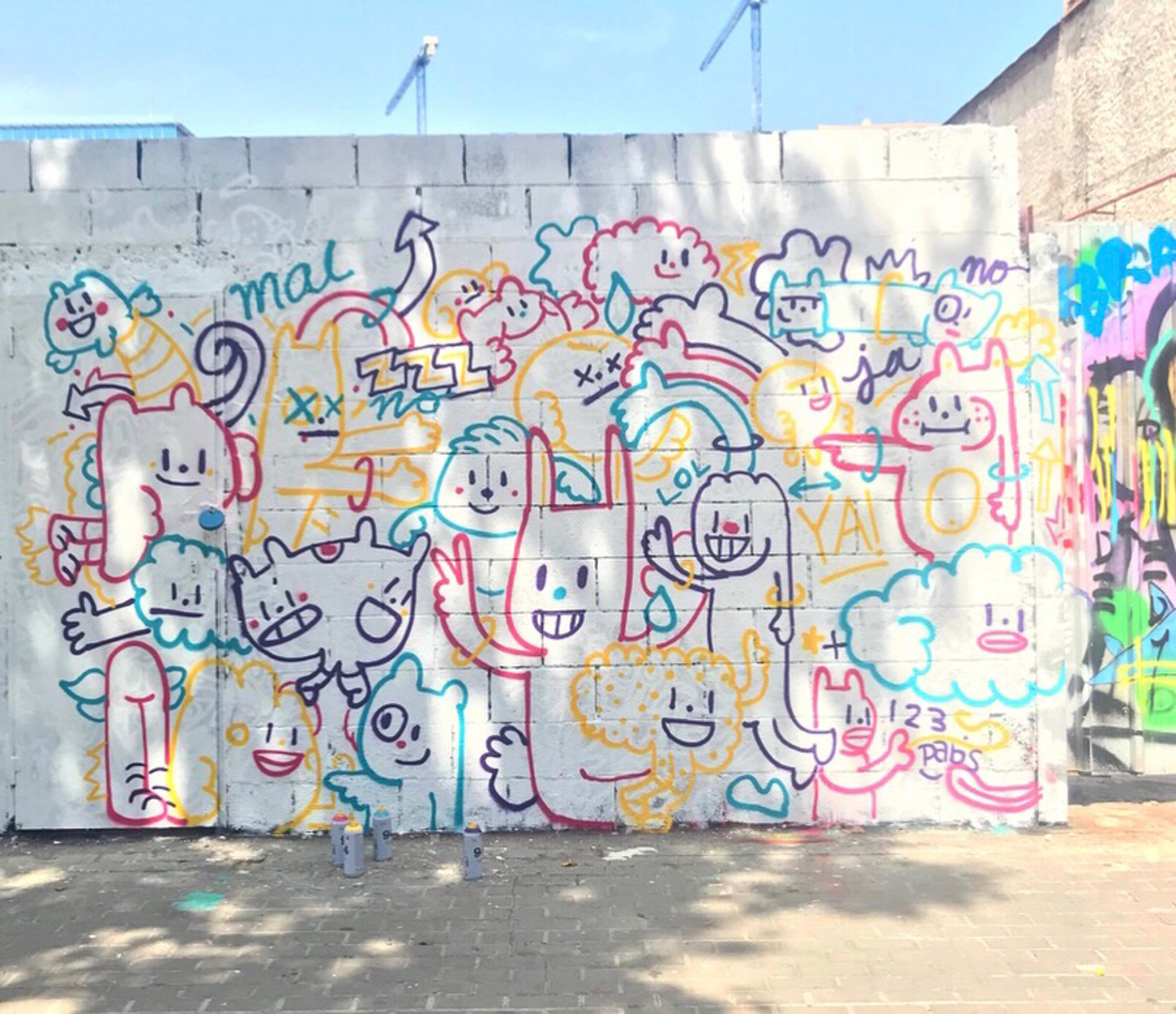 Wallspot - pabs - esquizy - Barcelona - Poble Nou - Graffity - Legal Walls - Illustration