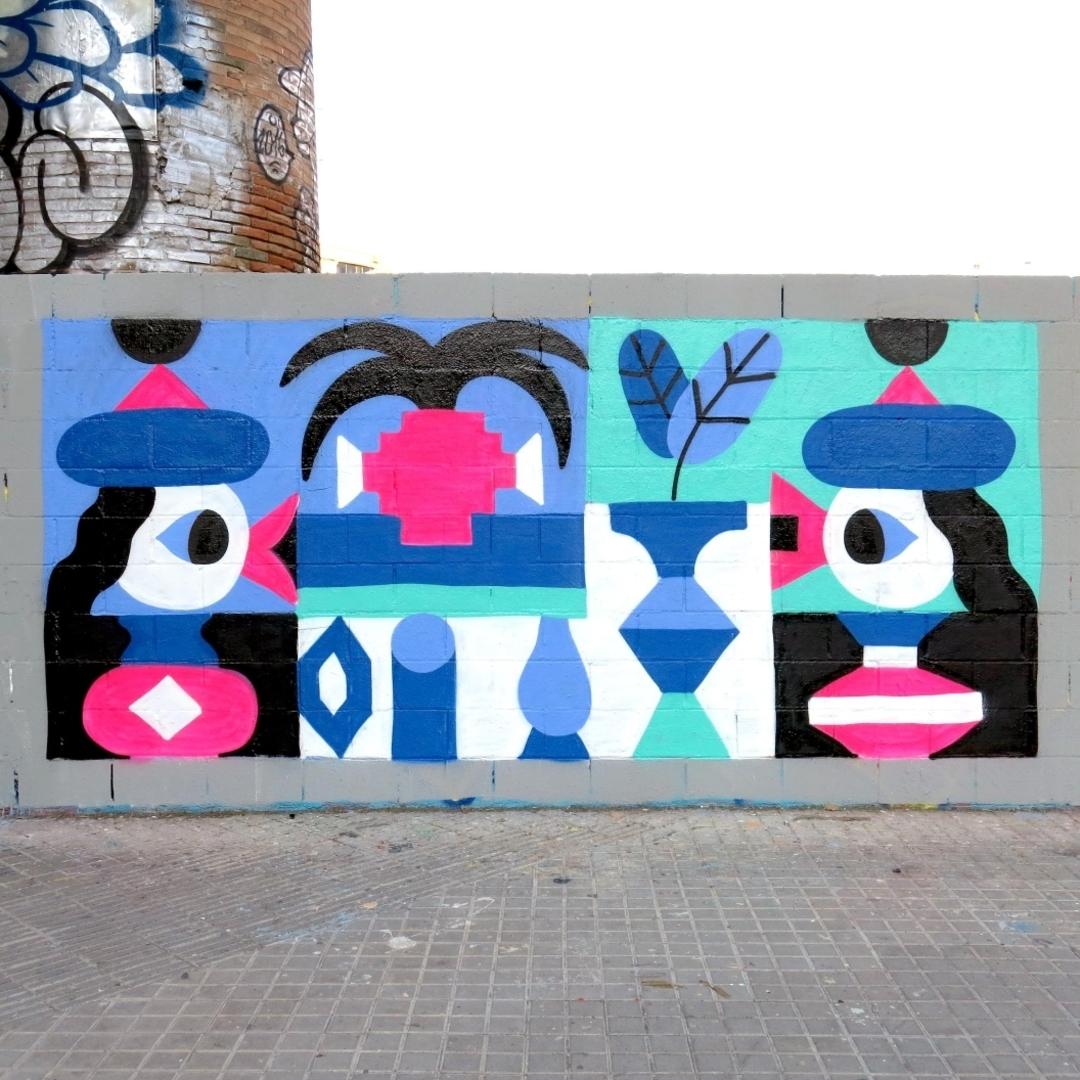 Wallspot - Osier Luther - Poble Nou 2019  - Barcelona - Poble Nou - Graffity - Legal Walls - Illustration