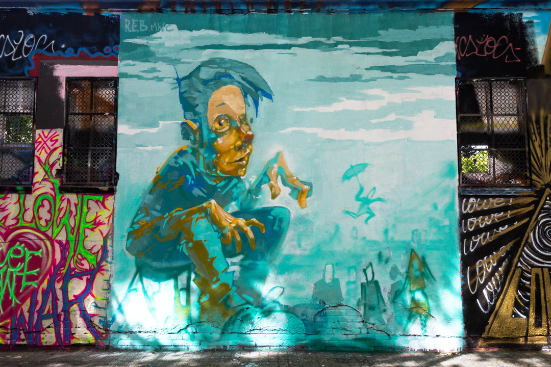 Wallspot - JOAN PIÑOL - REB MWC - Barcelona - Agricultura - Graffity - Legal Walls - Illustration - Artist - reb.mwc