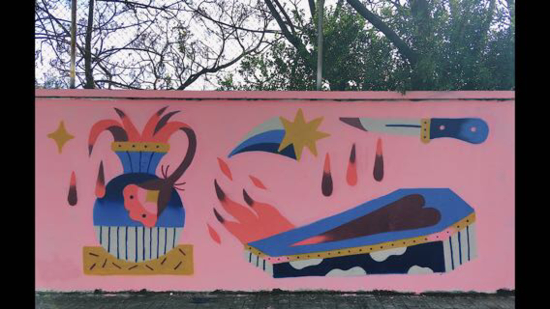 Wallspot - Maruhrz - MuerenLasFlores - Barcelona - Agricultura - Graffity - Legal Walls -